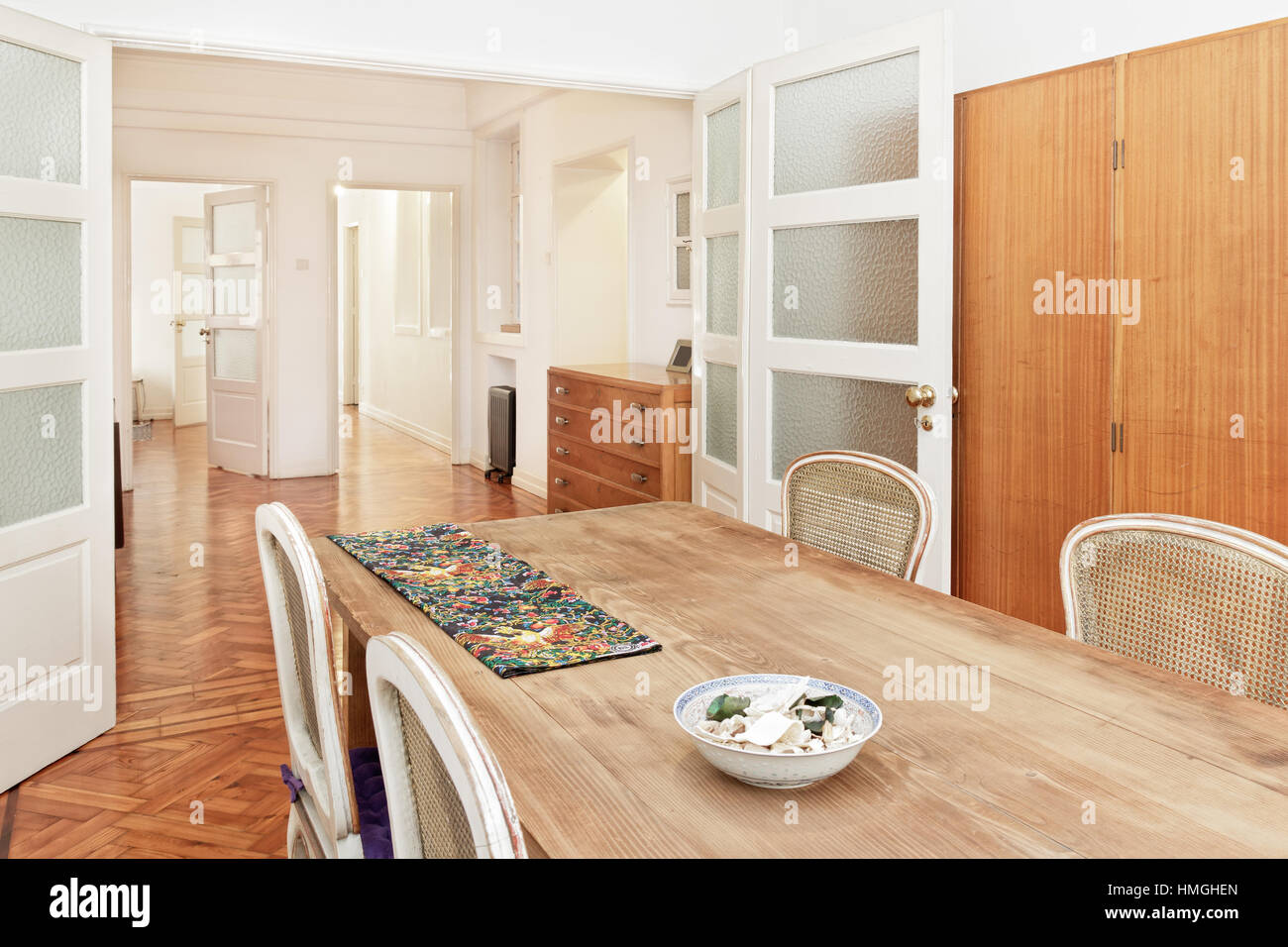 Salle A Manger Retro Elegant Banque D Images Photo Stock