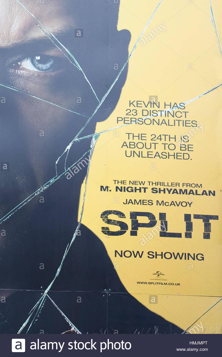 Publicité pour le film renversé Photo Stock