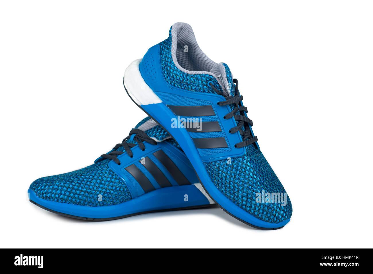 Les formateurs, des baskets, des chaussures de course Photo Stock