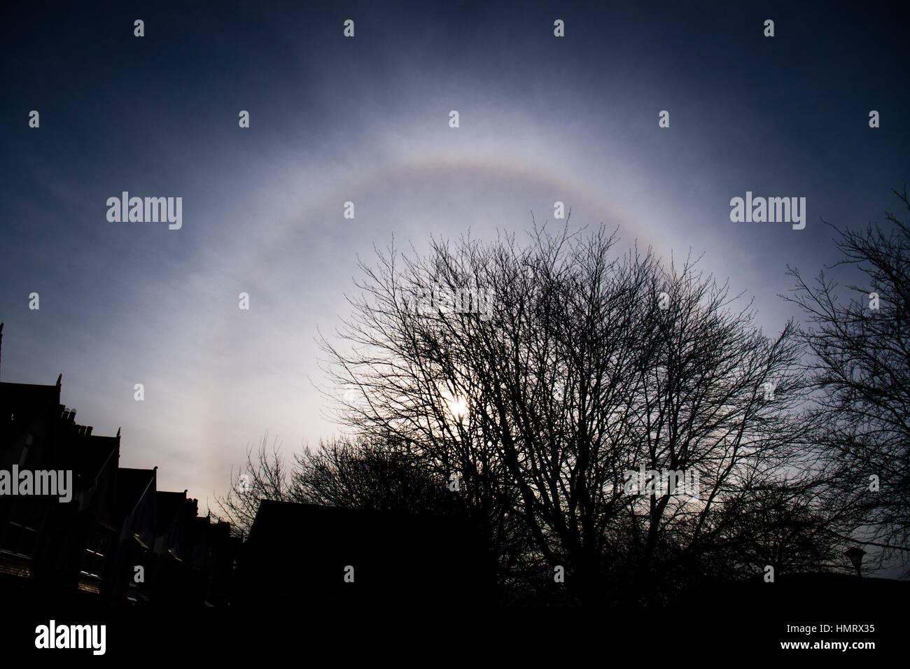 Pays de Galles Aberystwyth UK, dimanche 05 février 2017 UK Weather: par un froid matin de février Photo Stock