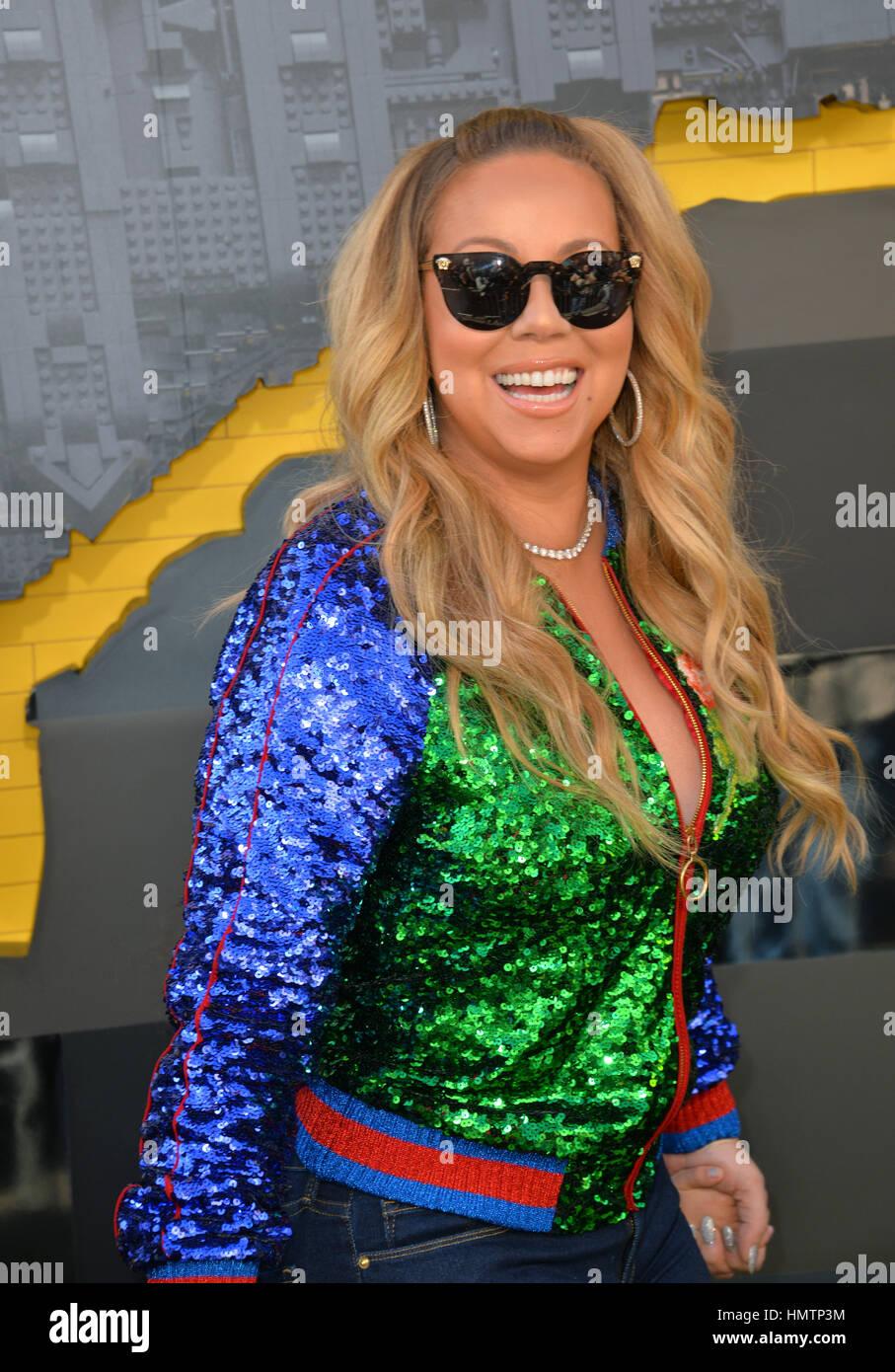 Los Angeles, USA. Feb, 2017 4. La chanteuse/actrice Mariah Carey lors de la première mondiale de 'la' Photo Stock