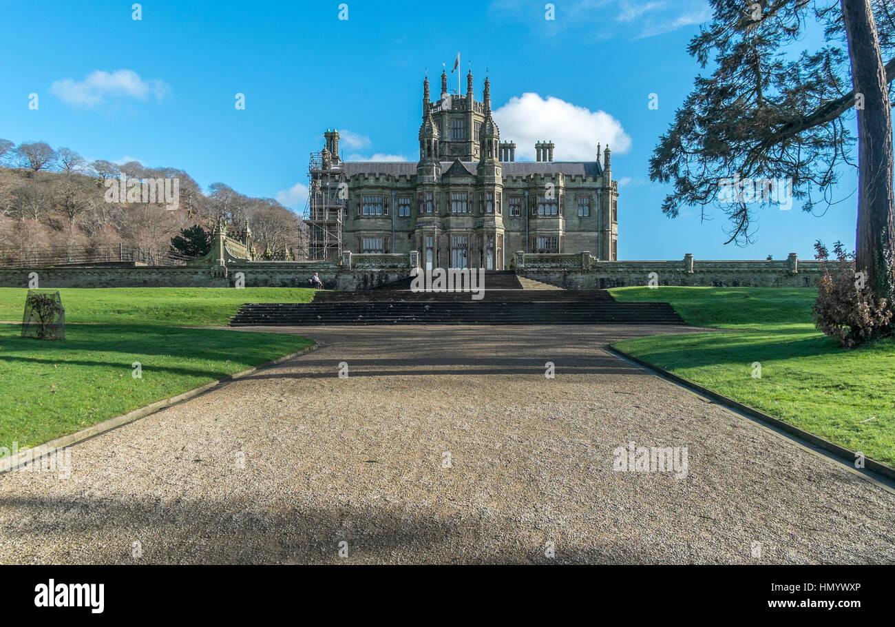 Château de Margam est une maison de campagne victorienne située à Port Talbot, au Pays de Galles. Banque D'Images