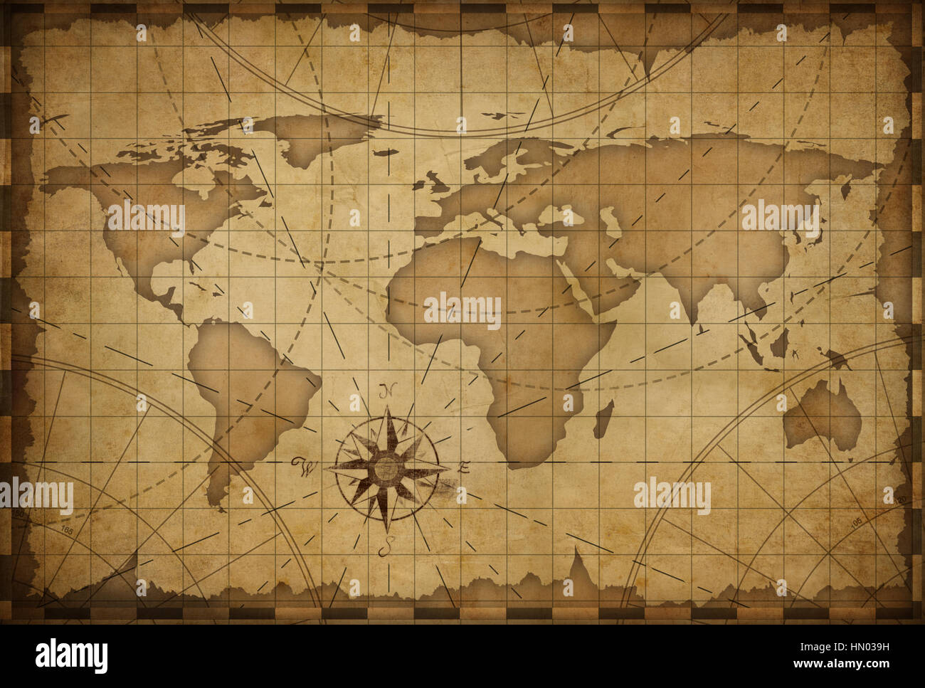 ancienne carte du monde th me nautique vintage background banque d 39 images photo stock. Black Bedroom Furniture Sets. Home Design Ideas