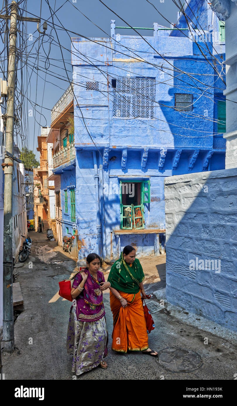 Ville Bleue Jodhpur, Rajasthan, India Banque D'Images