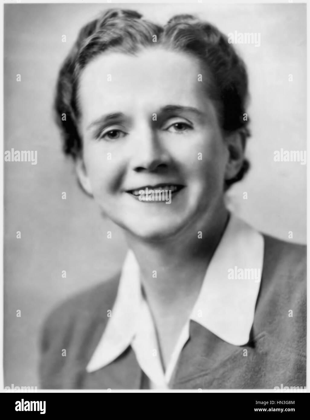 Rachel Carson (1907-1964) biologiste marin américain et auteur de 'Silent Spring' (1962) sur les dommages environnementaux causés par les pesticides. Banque D'Images