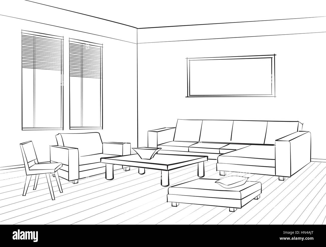 accueil mobilier d'intérieur avec canapé, fauteuil, table de salon