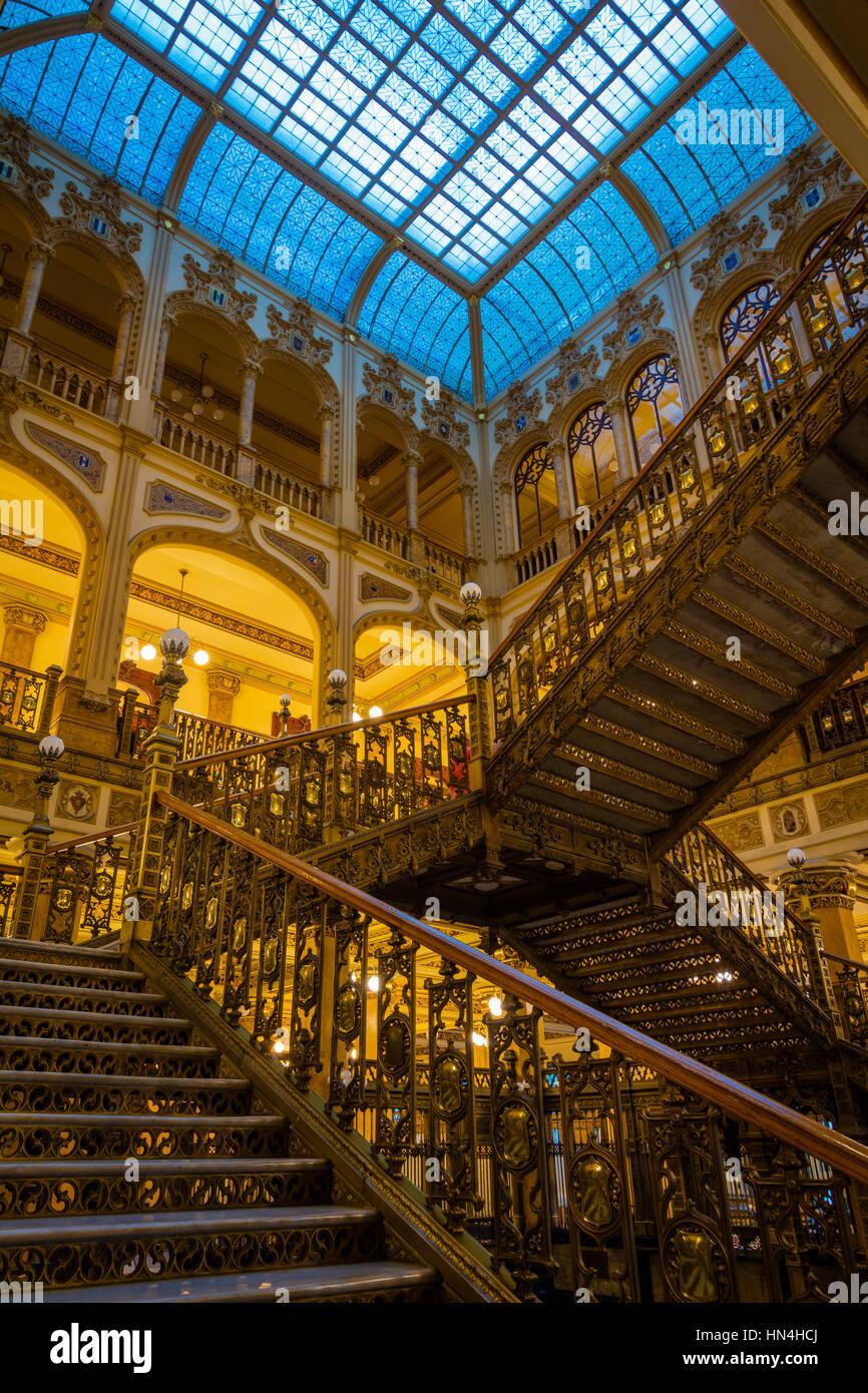 Le Palacio de Correos de Mexico (Postal Palais de Mexico) aussi connu comme le 'Correo Mayor' (poste principale) Photo Stock