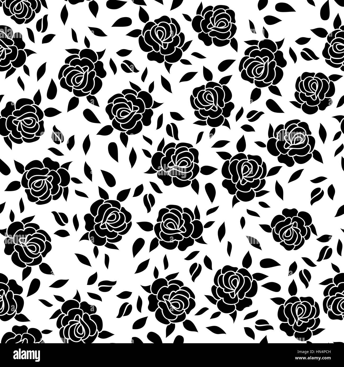 Motif Floral Fleur Rose Fond Ornemental Epanouir Texture Avec