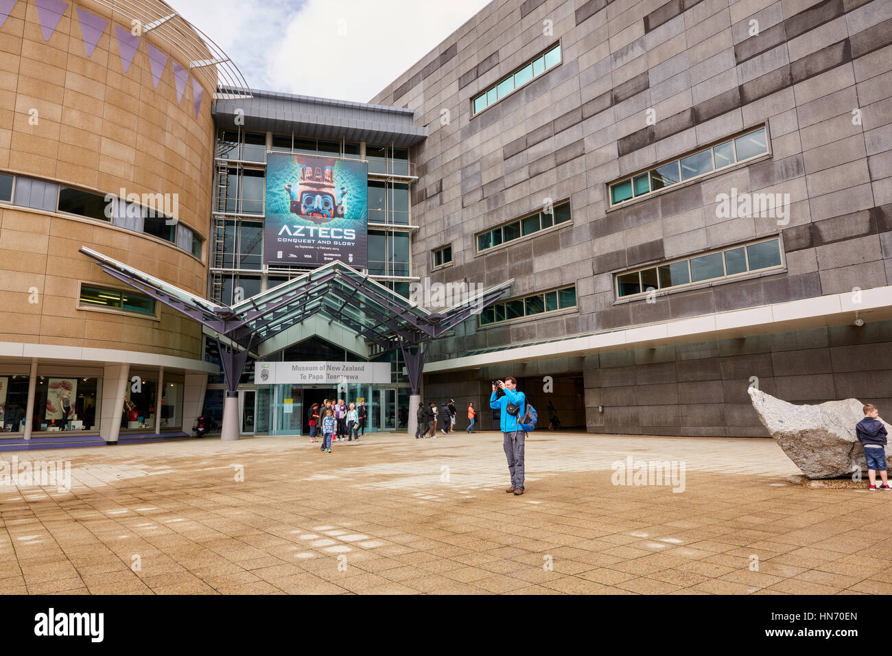 Le Musée Te Papa Tongarewa, Wellington, Nouvelle-Zélande Photo Stock