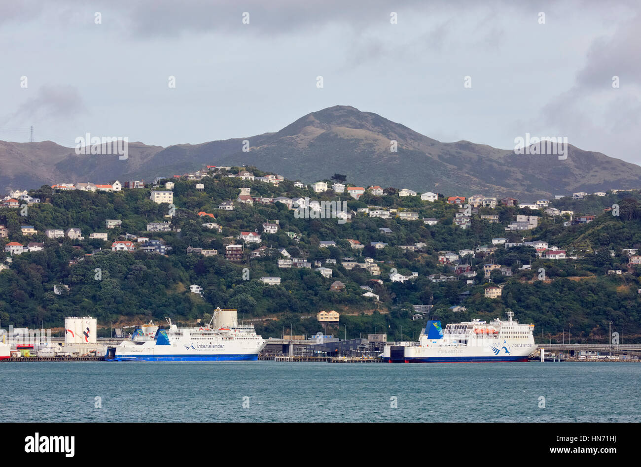 Ferry Interislander, Wellington, Nouvelle-Zélande Photo Stock