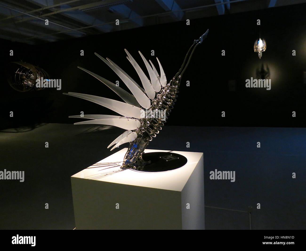 """U-Ram Choe artwork montre au Tripostal, Lille, France, dans le cadre de 'Seoul, vite!"""" en 2015. Photo Stock"""