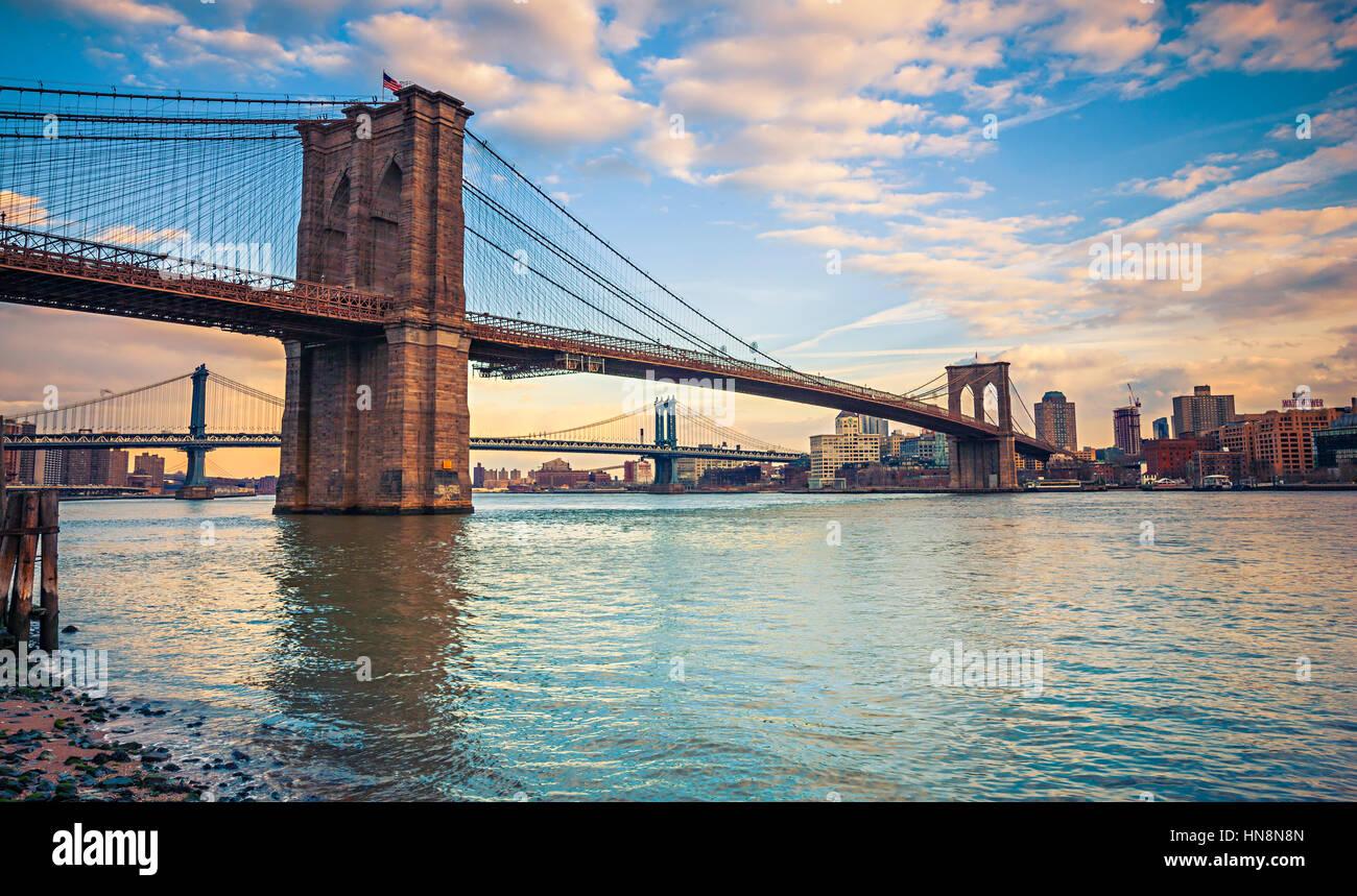 Pont de Brooklyn, New York Photo Stock