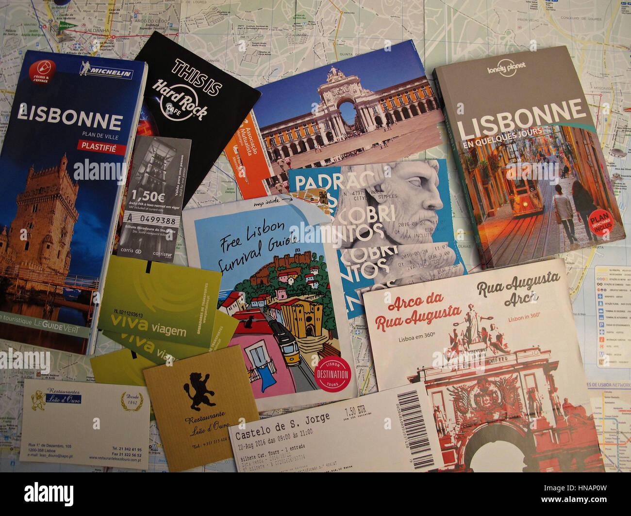 Visite Des Billets Et Carte De Lisboa Lisbonne Portugal Europe