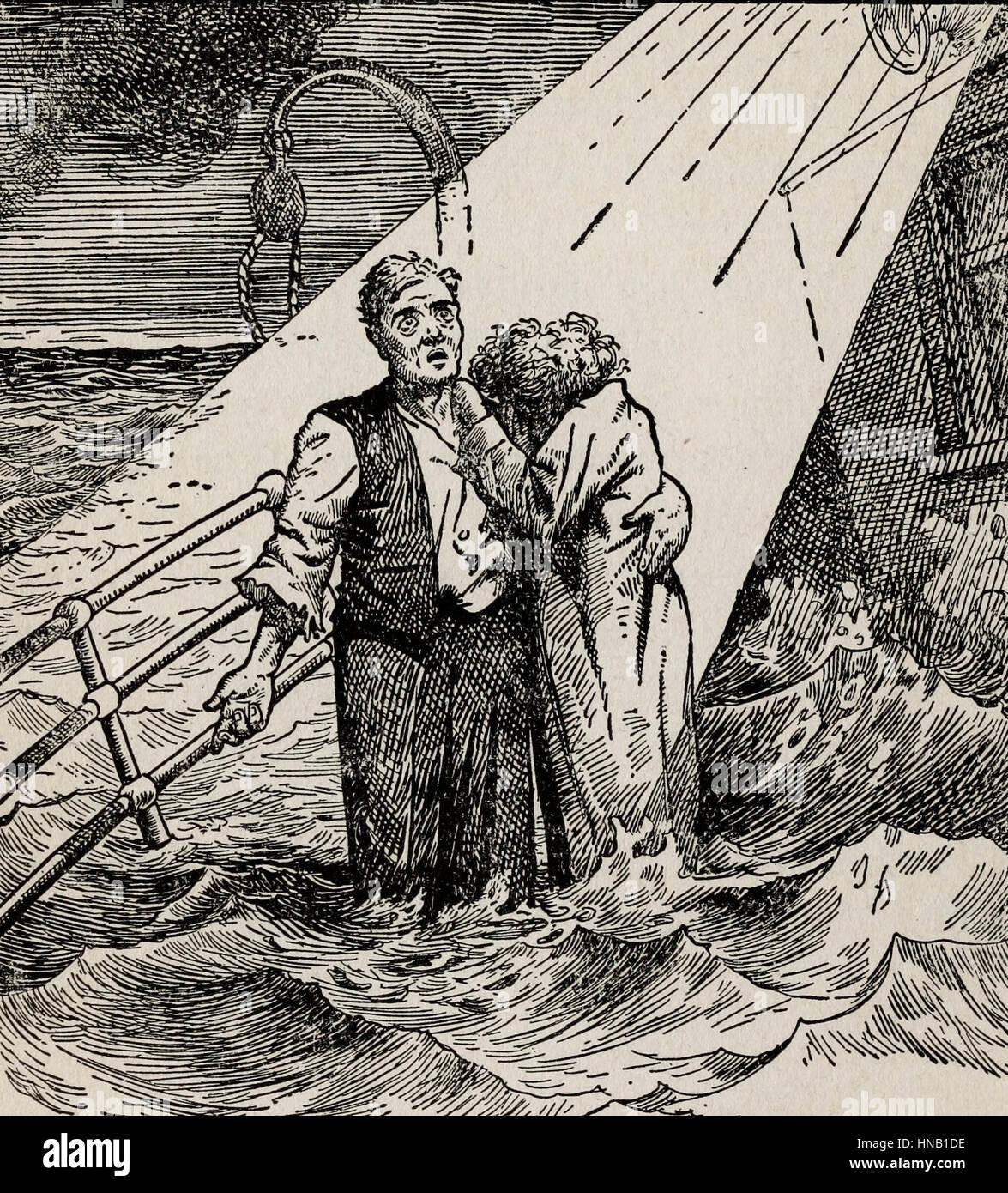 Plus près de toi, mon Dieu - à bord du Titanic naufrage Banque D'Images