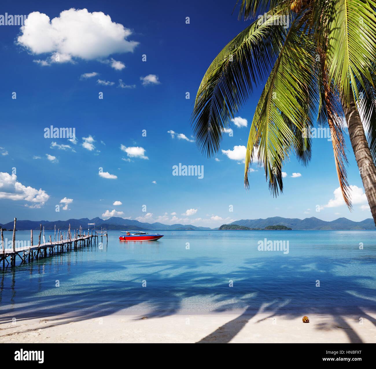 Île tropicale, quelque part en Thailande Photo Stock