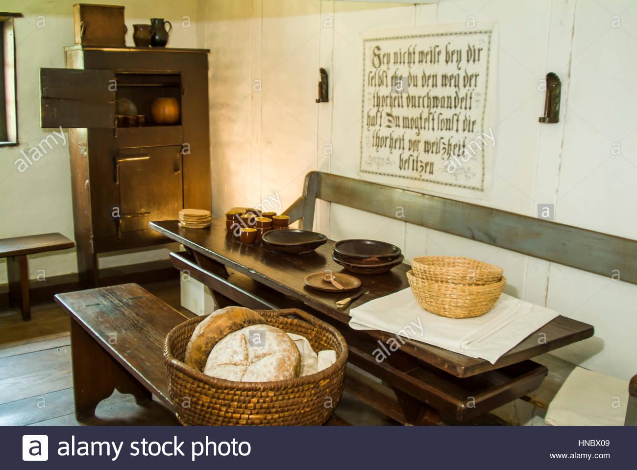 Cuisine commune utilisée dans 19e siècle au cloître Ephrata dans on