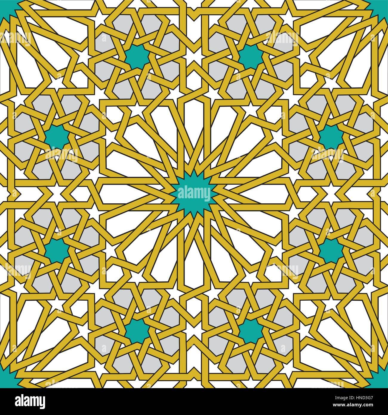 Modèle logique géométrique islamique Photo Stock