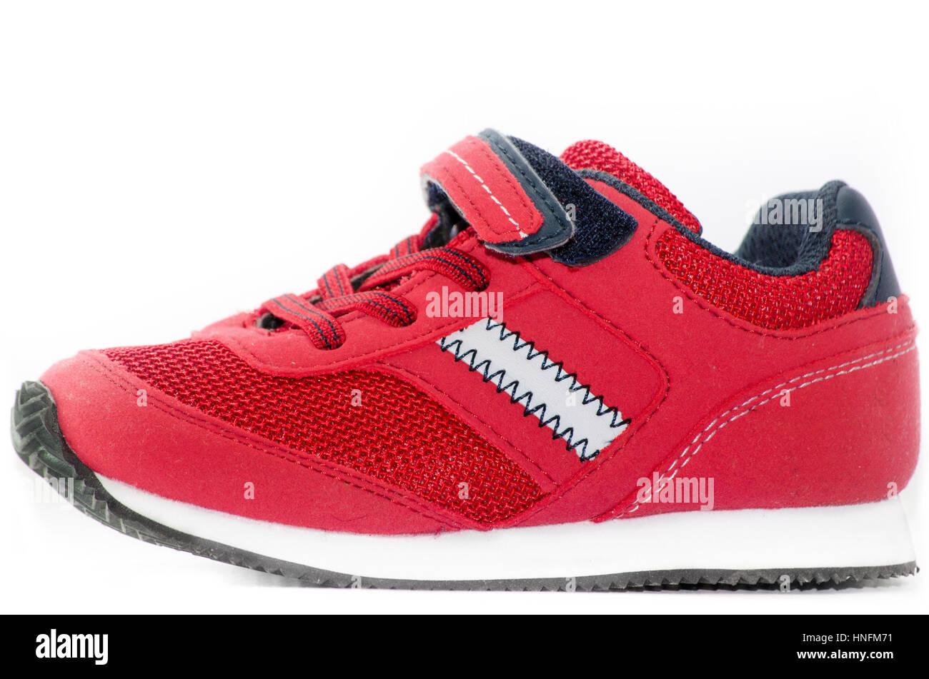 Chaussure décontractée rouge Photo Stock