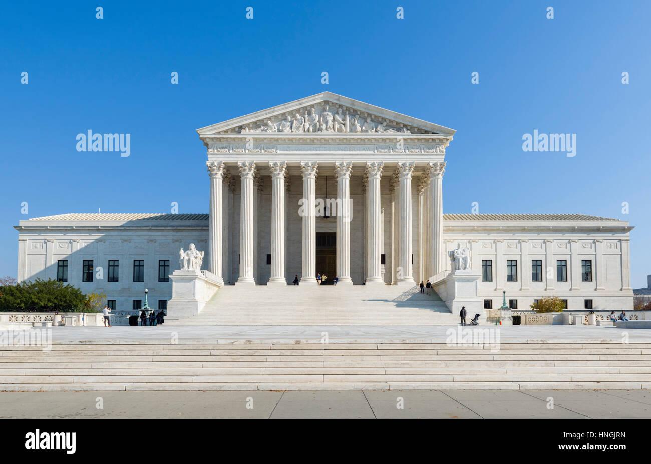 La Cour suprême des États-Unis, 1e rue nord-est, Washington DC, USA Photo Stock