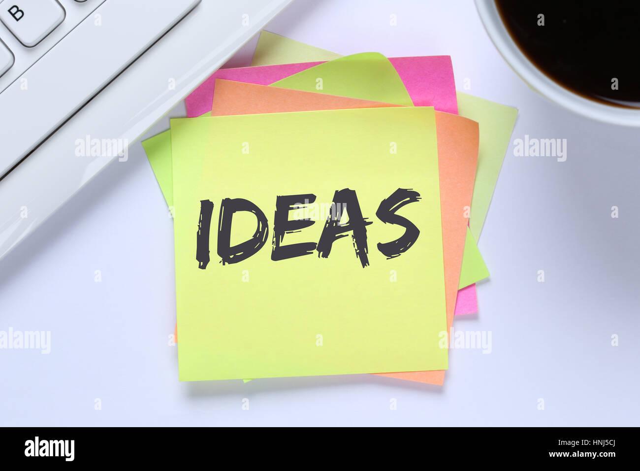 Idée idées créatives créativité croissance succès 24 clavier de l'ordinateur Photo Stock