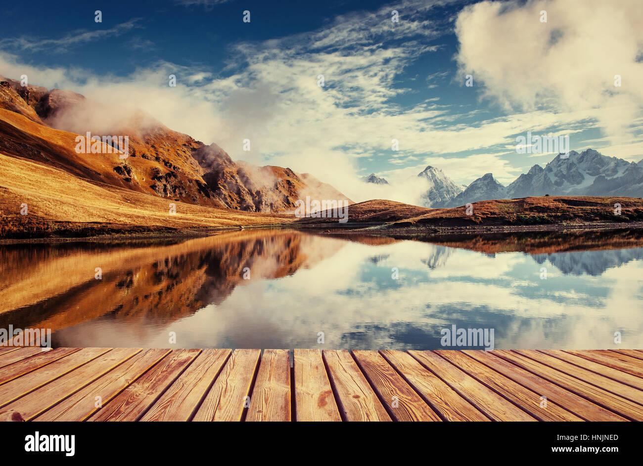 Le paysage pittoresque dans les montagnes. Haut Svaneti, Georg Photo Stock