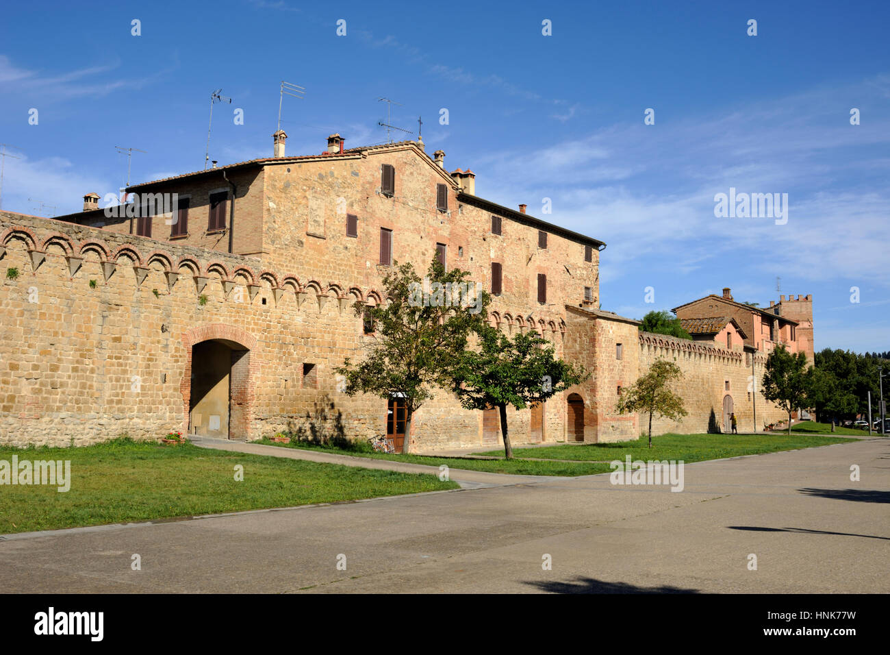 Italie, Toscane, buonconvento, murs Photo Stock