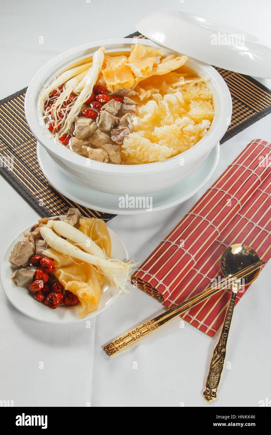 Soupe chinoise Photo Stock