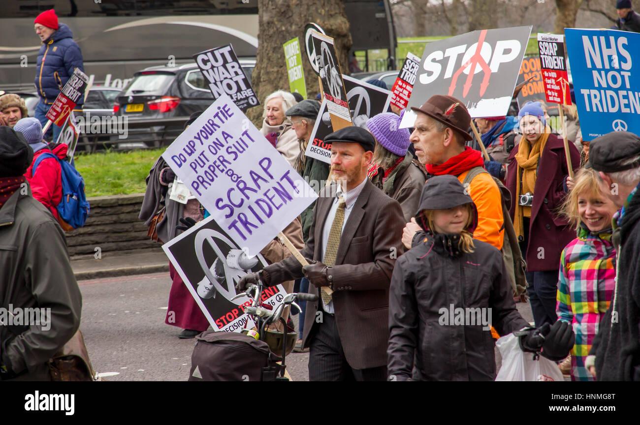 Rallye de la CND, Londres 27 février 2016 Photo Stock
