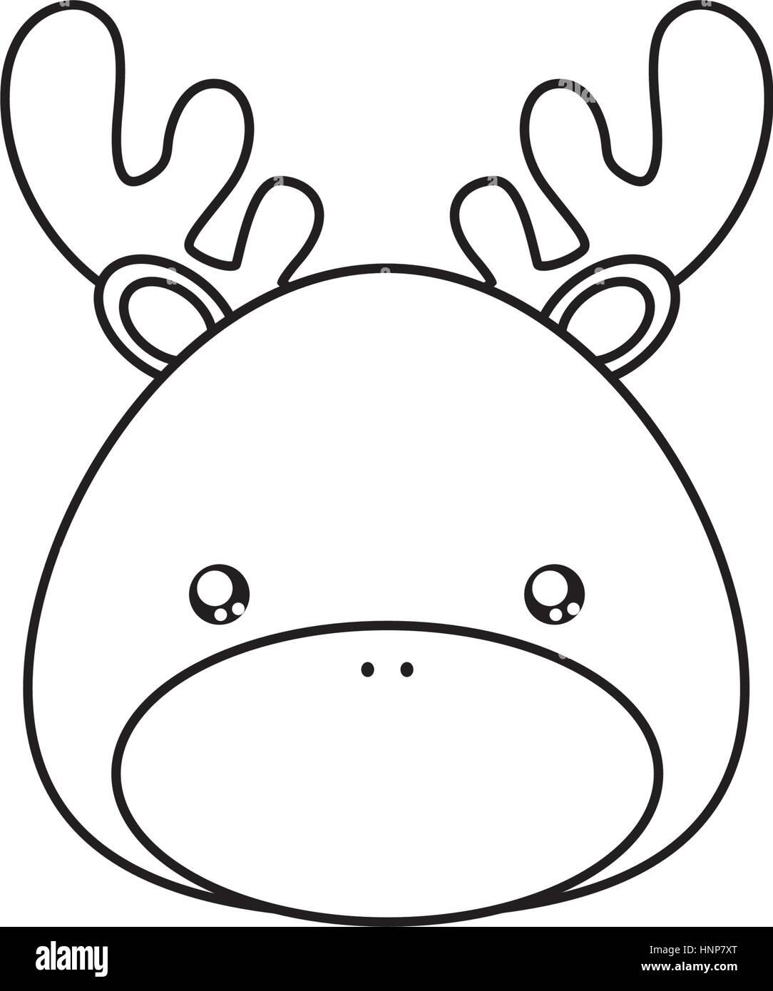 Face Dessin Cerf Vecteurs Et Illustration Image Vectorielle