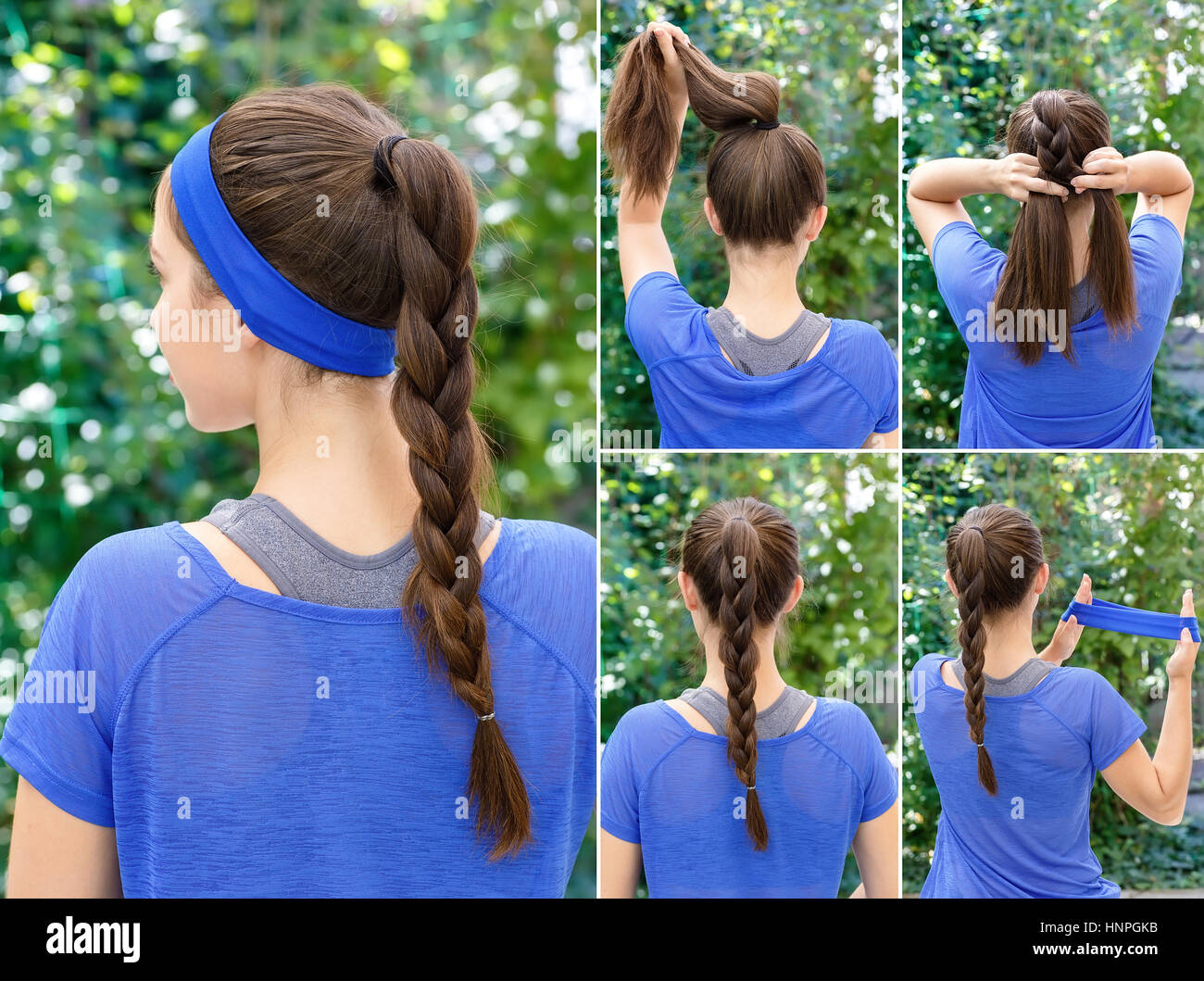 Tuto coiffure cheveux long sport