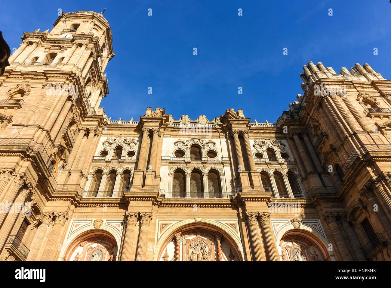 La Cathédrale de l'Incarnation (Catedral de la Encarnation), Malaga, Andalousie, espagne. Banque D'Images