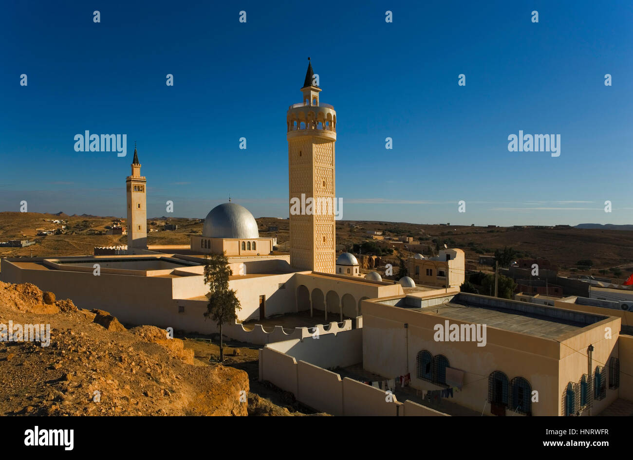 Tunisie.ksar haddada mosquée. Photo Stock