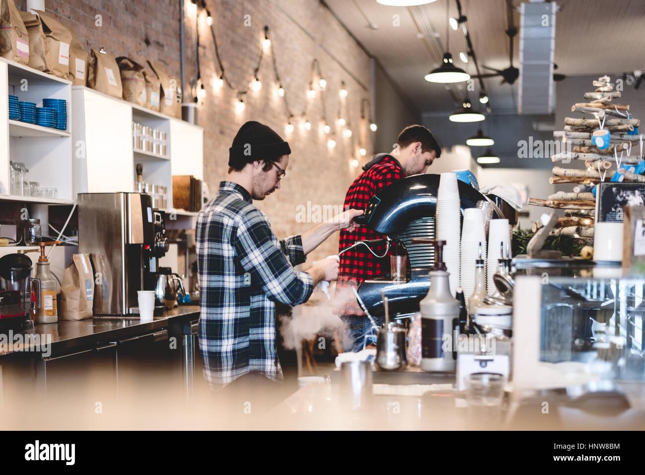 À café barista cafe Banque D'Images