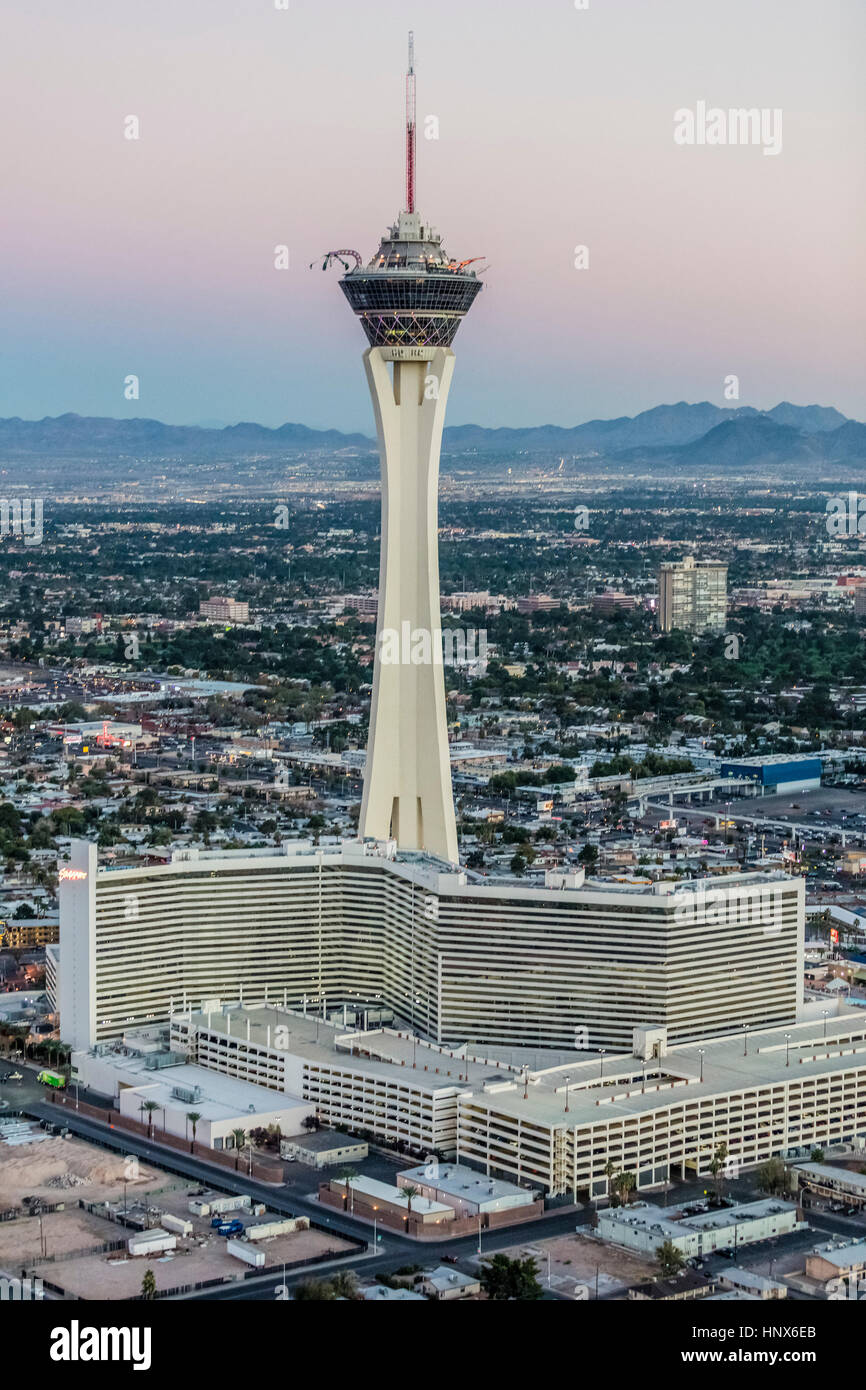 Casino Stratosphere Hotel and tower, Las Vegas, Nevada, USA Photo Stock