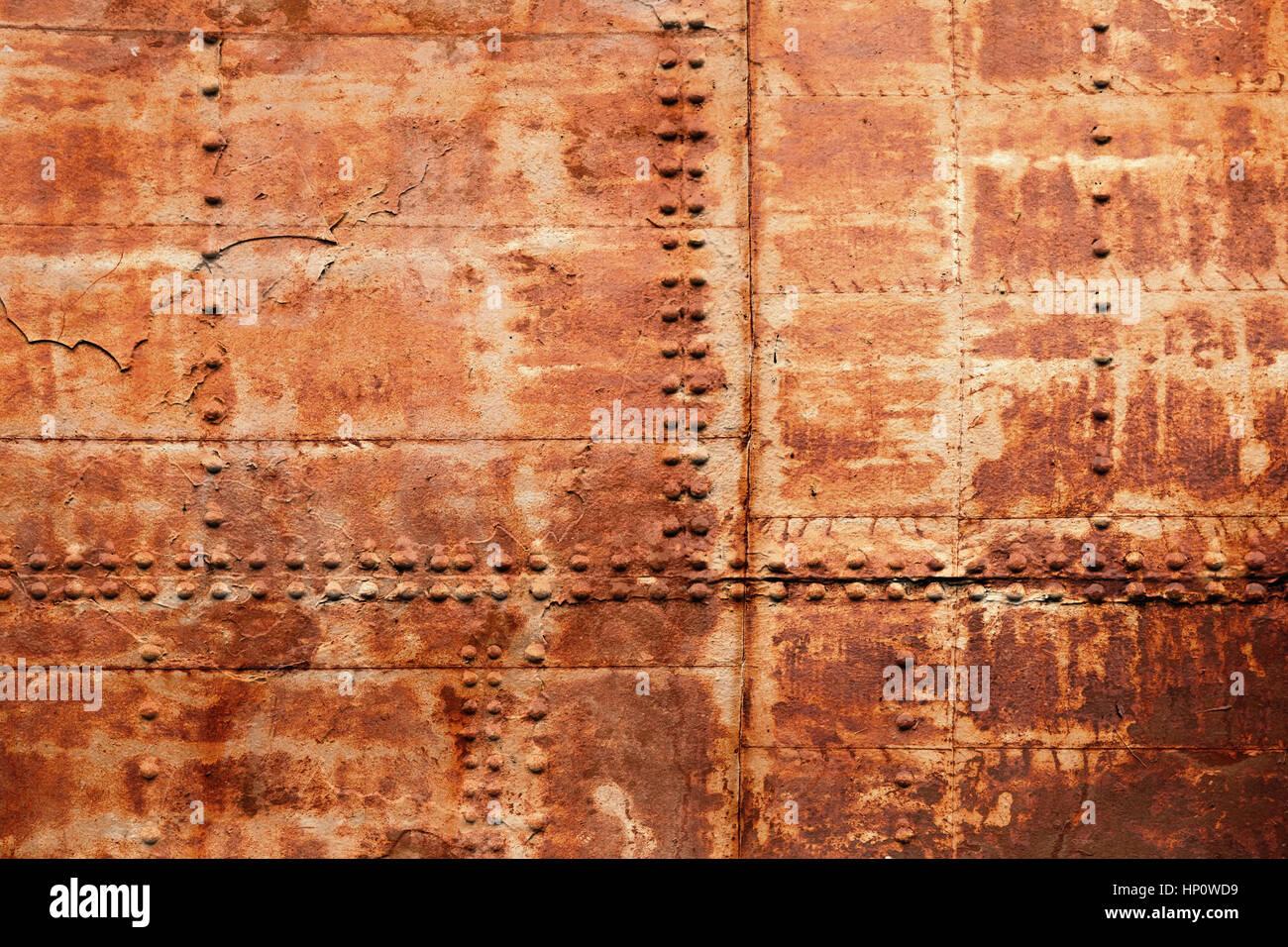 vieux bateau rouill fragment de la coque des t les de fer avec rivets texture de fond photo. Black Bedroom Furniture Sets. Home Design Ideas