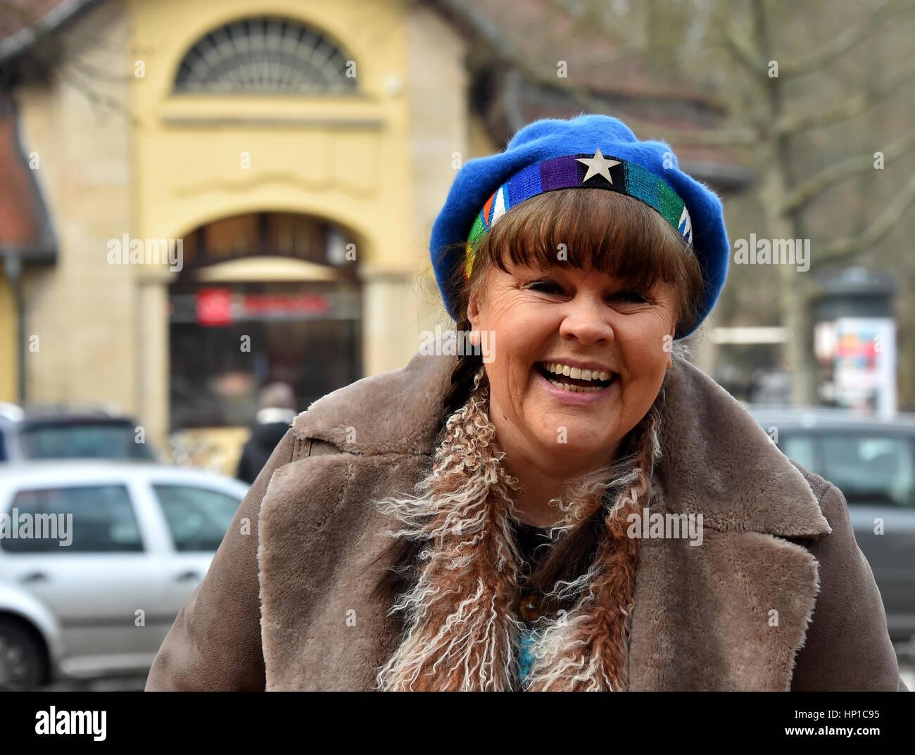 Berlin, Allemagne. 10 fév, 2017. La RDA Schlager singer Chris Doerk, photographié à Berlin, Allemagne, Photo Stock