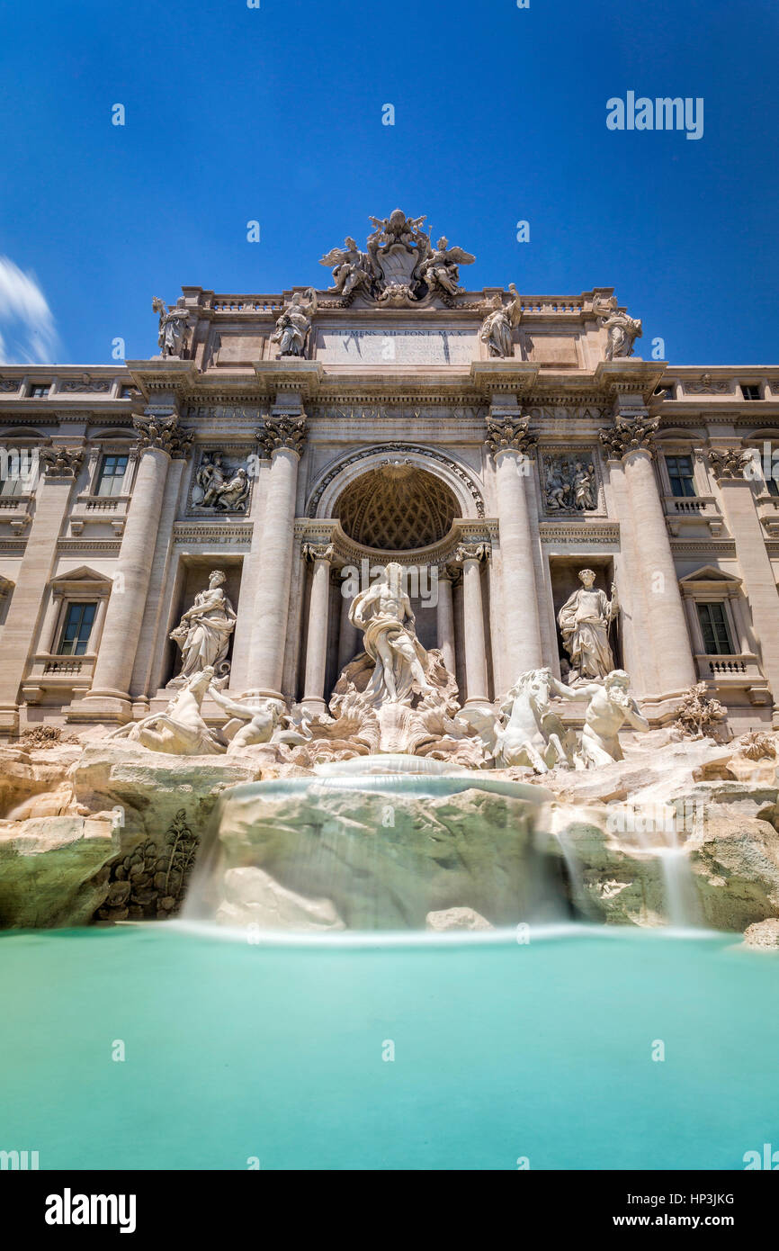 Fontaine de Trevi, Piazza di Spagna, monument, Rome, Latium, Italie Photo Stock