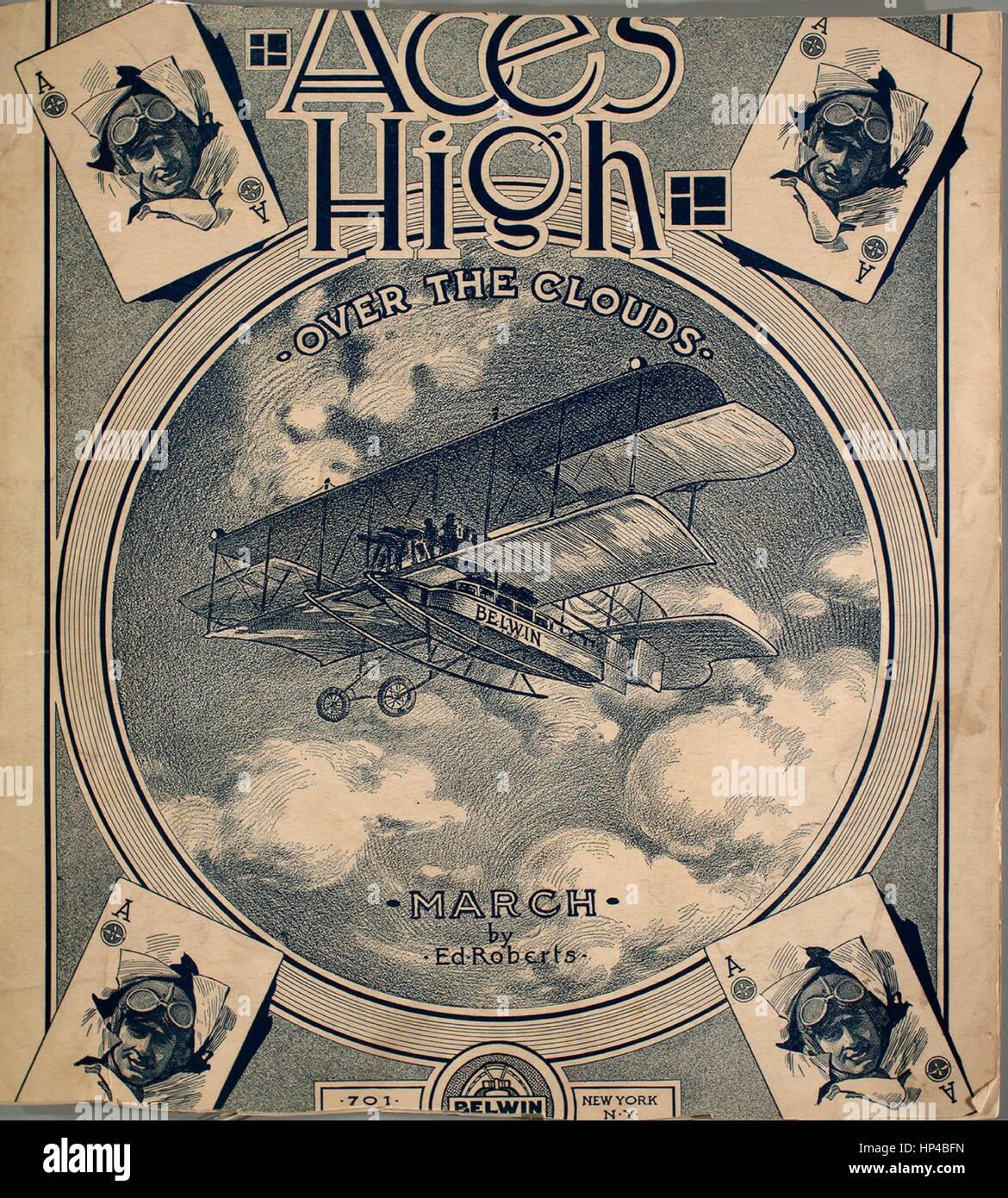 Sheet Music Image De Couverture De La Chanson Aces High Plus Les