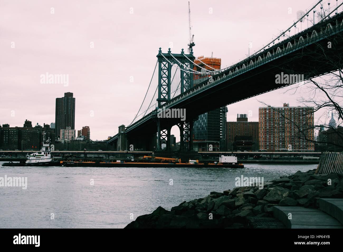 Manhattan Bridge Banque D'Images