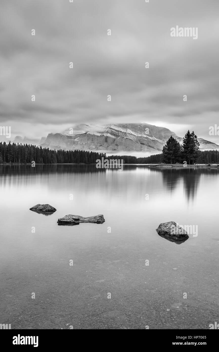 Deux Jack Lake, Alberta, Canada Photo Stock