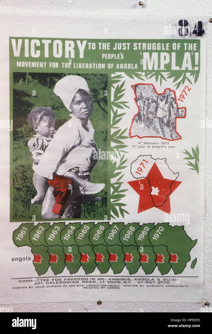 Mouvement populaire pour la libération de l'Angola - Parti du Travail,1972 Photo Stock