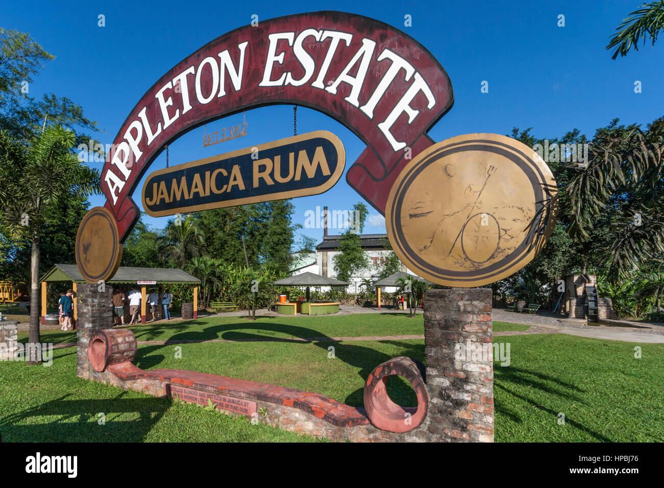 La Jamaïque Jamaïque Appleton Estate district de rhum St Elisabeth Banque D'Images