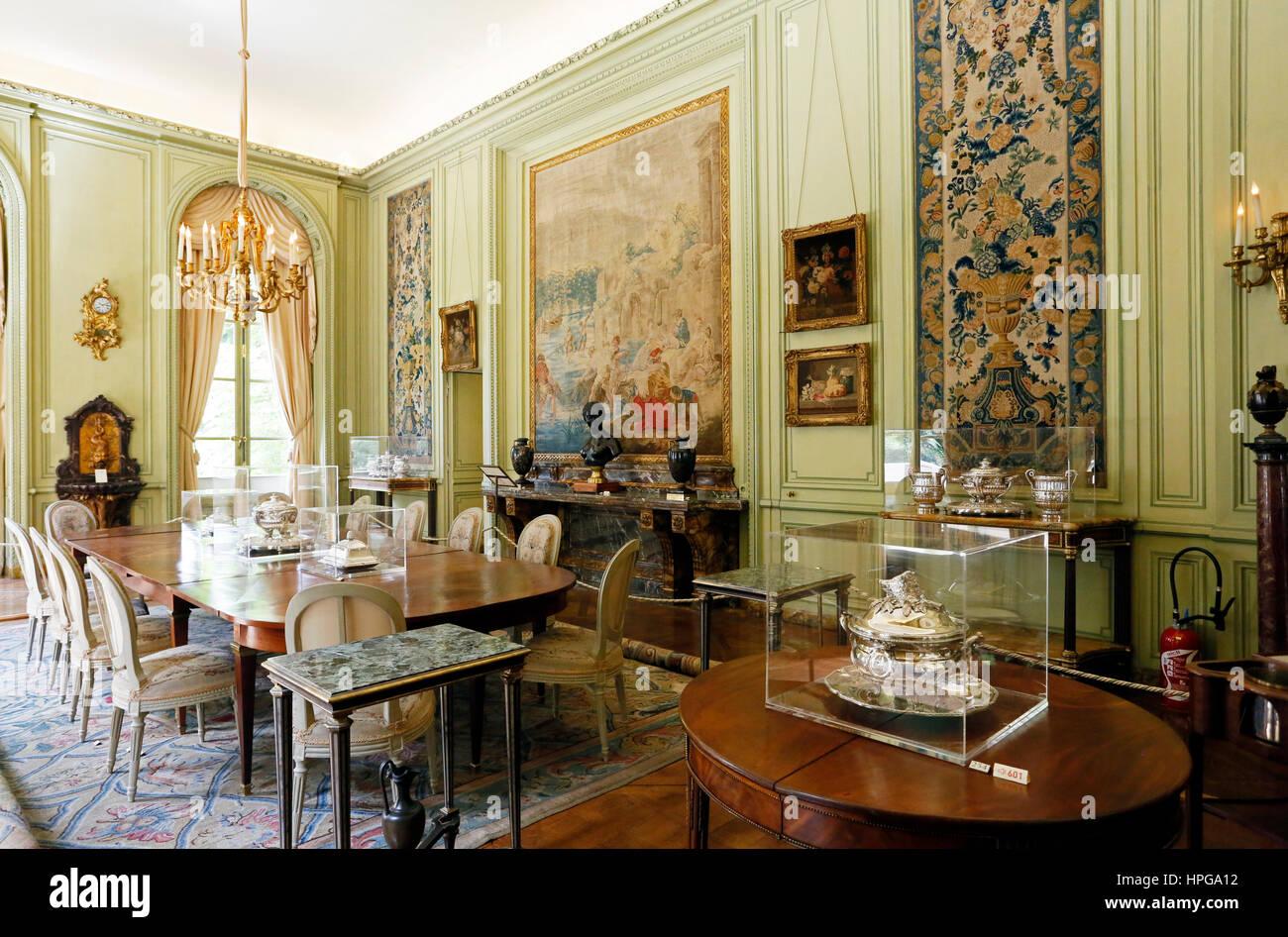 Salle A Manger Paris france, paris. 8ème arrondissement. musée nissim de camondo