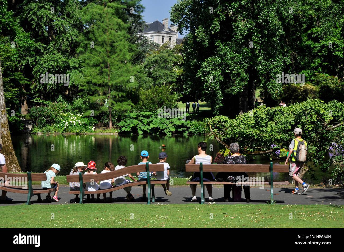 France, Loire-Atlantique, Nantes, Jardin des Plantes, le ...