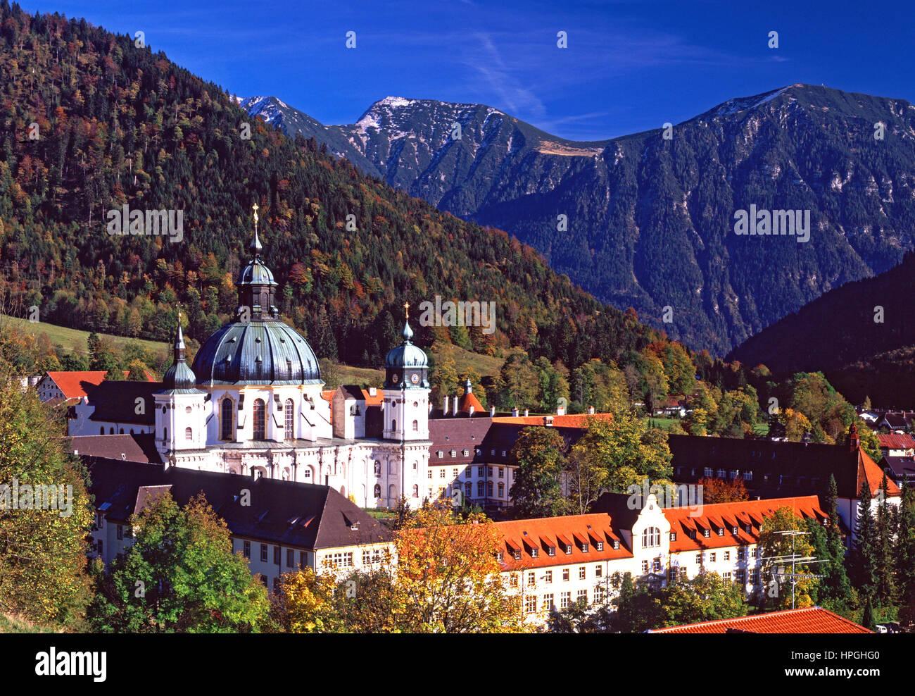 Monastère bénédictin Ettal, Bavière, Allemagne. Photo Stock