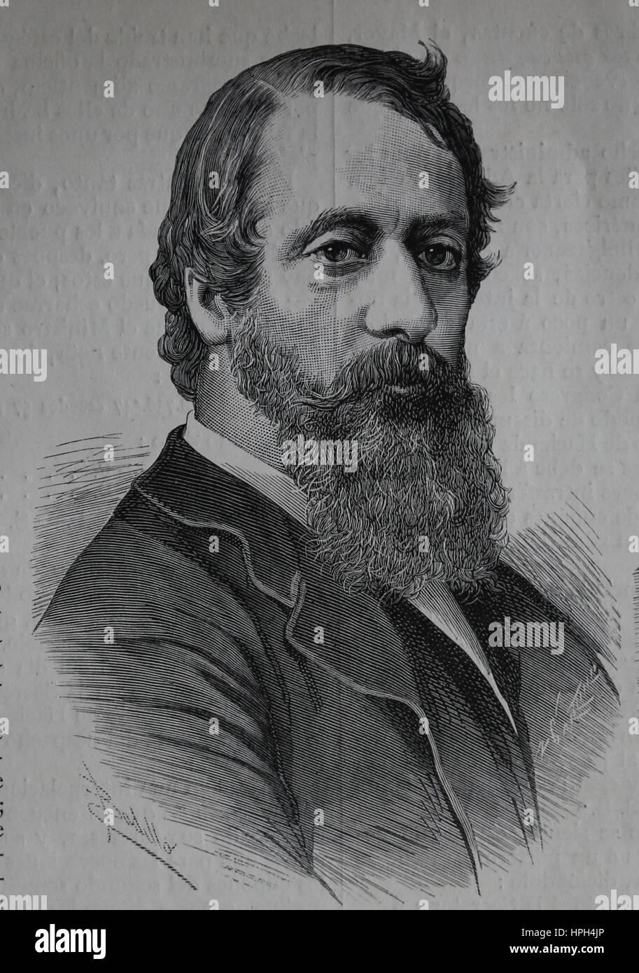 Lord Frederick Cavendish (1836-1882). Homme politique libéral français. Secrétaire en chef pour l'Irlande Photo Stock