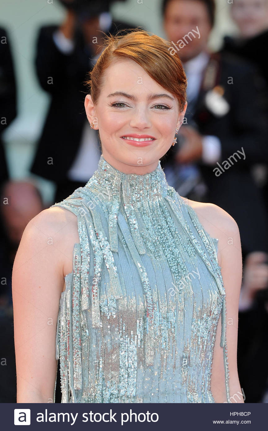 Emma stone venezia 10-09-2016 Photo Stock