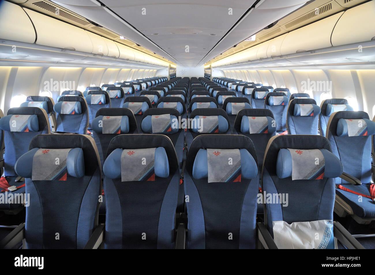 la serbie de lair airbus a330 avion fuselage large cabine passager vide