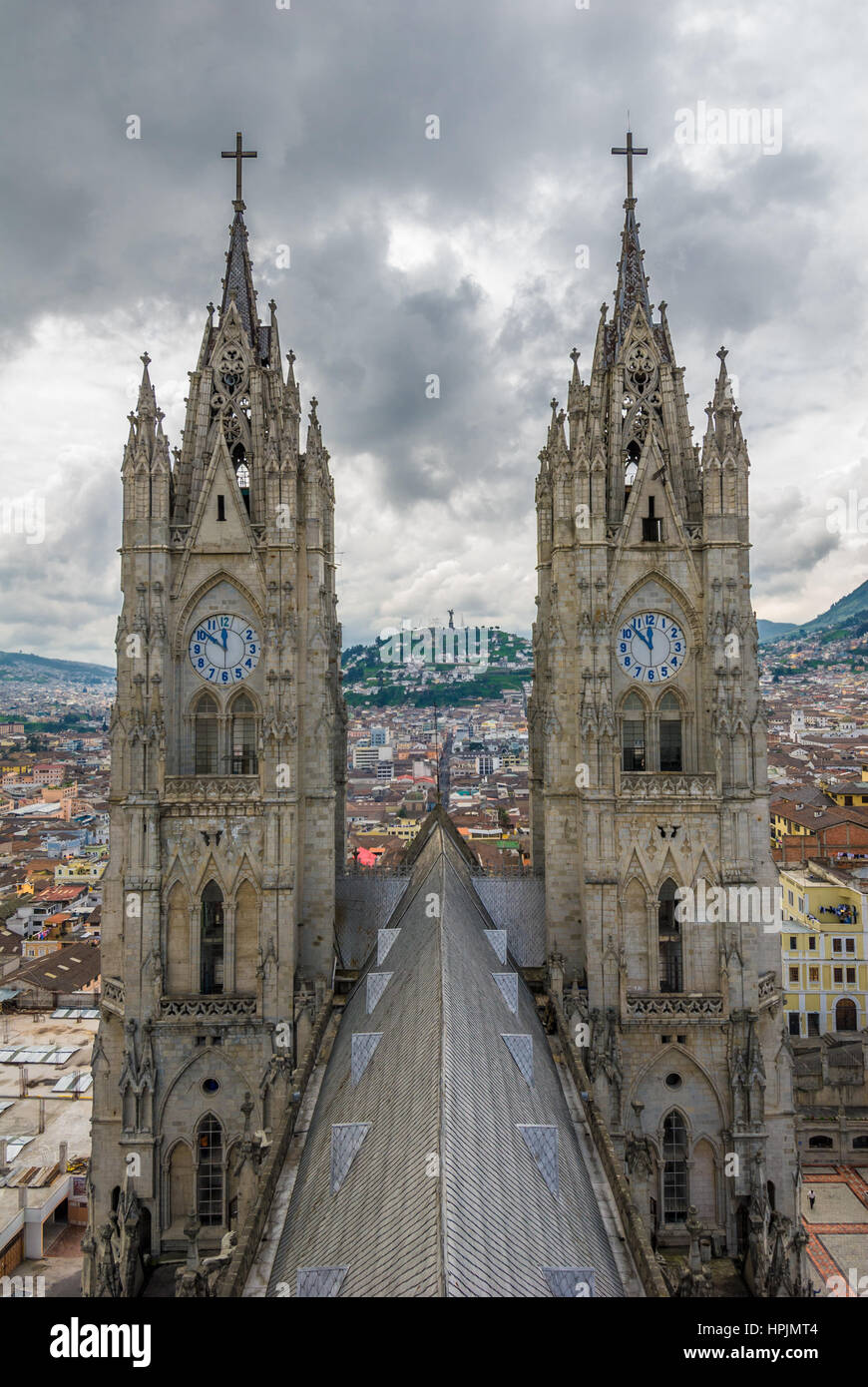 La Basilica del Voto Nacional, Quito, Équateur Photo Stock