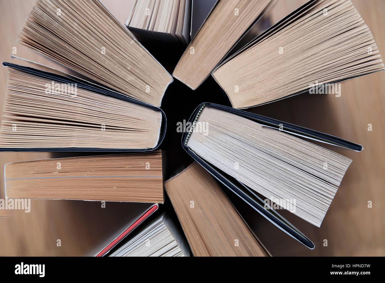 Résumé de l'angle du livre Photo Stock